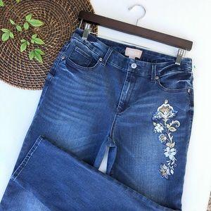 Chico's Jeans Embroidered Embellished Denim 6